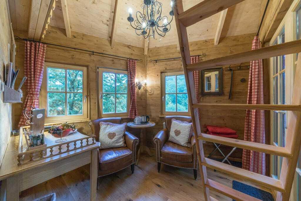 Baumhaushotel Seemühle Wohnfläche