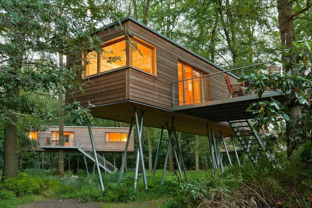 Baumhaussuiten im Resort Baumgeflüster, Außenansicht