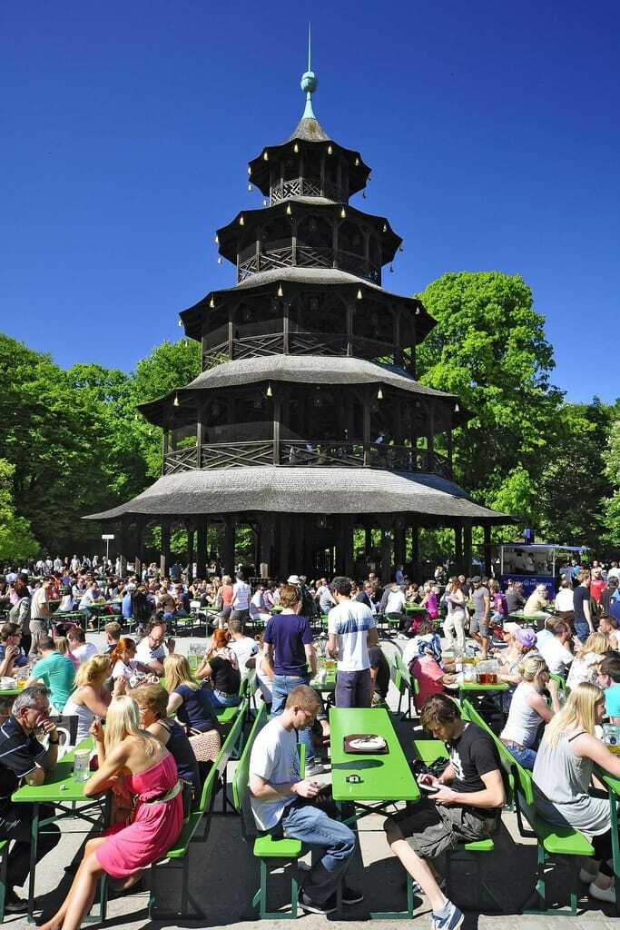 Biergarten Chinaturm in München