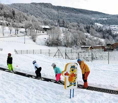 Kinder lernen Skifahren_Familien_Sporthotel_Brennseehof_Feld_Am_See