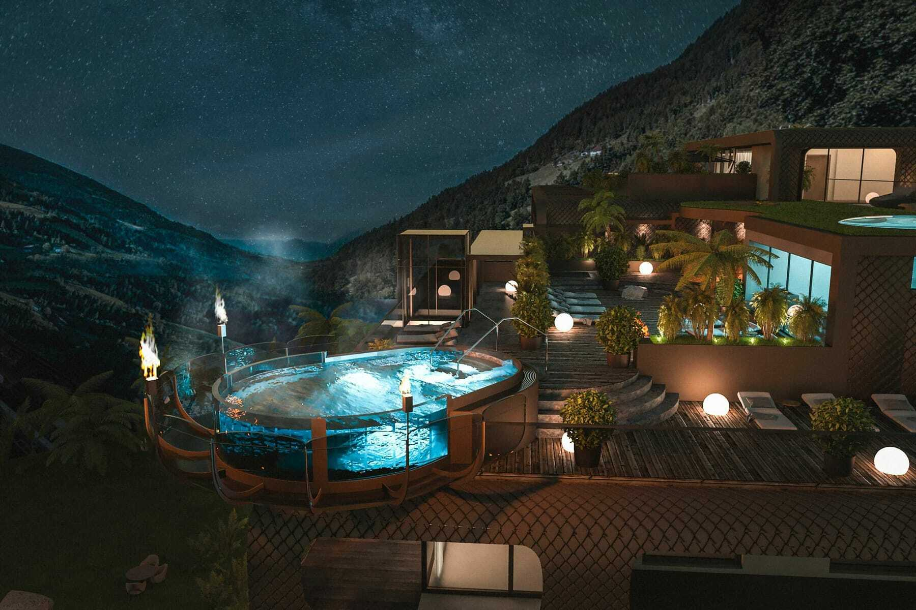 Pool bei Nacht_Quellenhof_Paseier