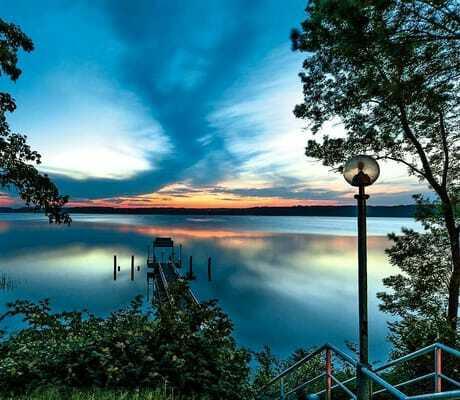 Sonnenuntergang am See_Seehotel_Heidehof_Klein_Nemerow