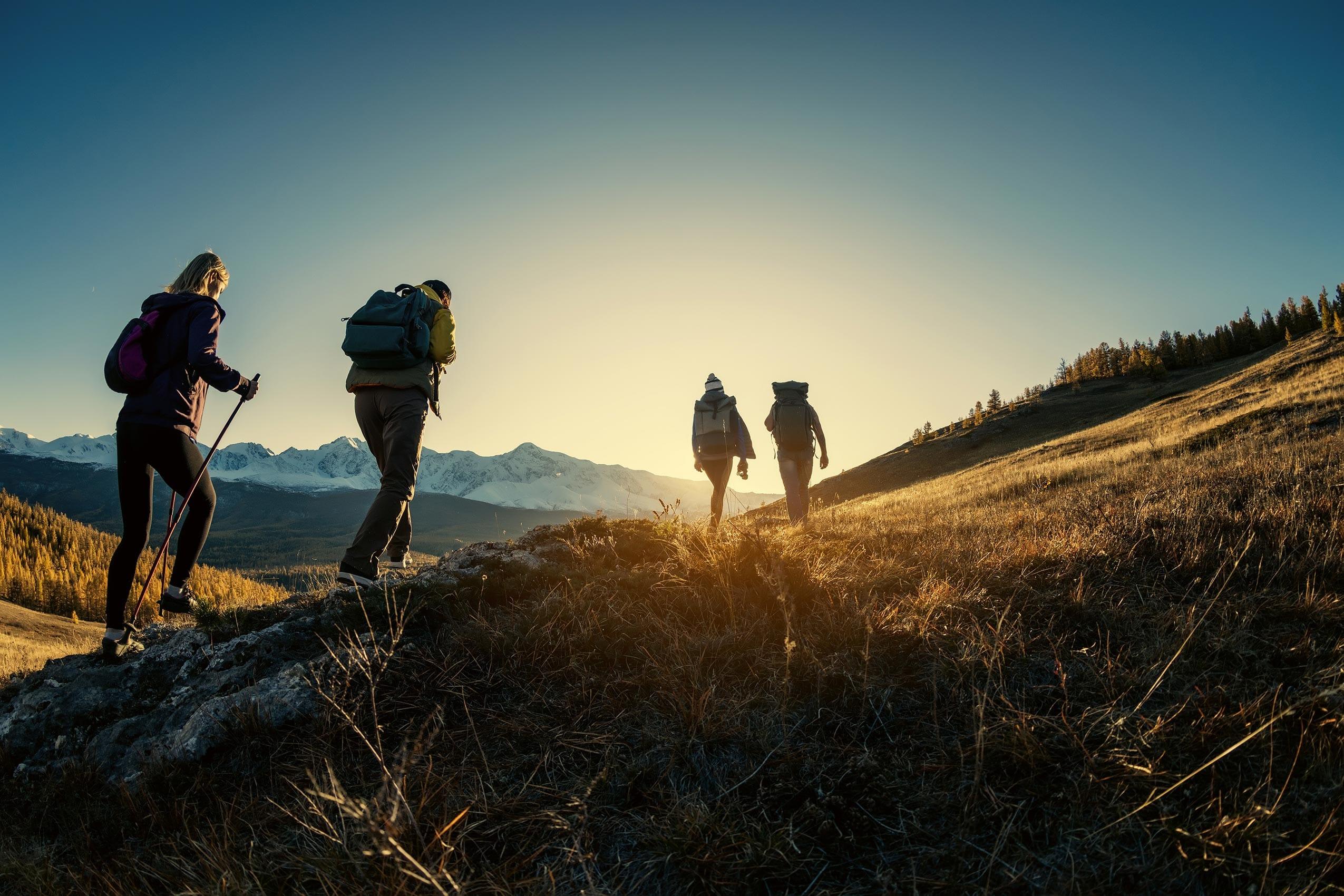 Gruppe Wanderer im Urlaub