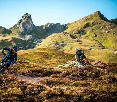Mountainbiketour in den Bergen_Tschuggen