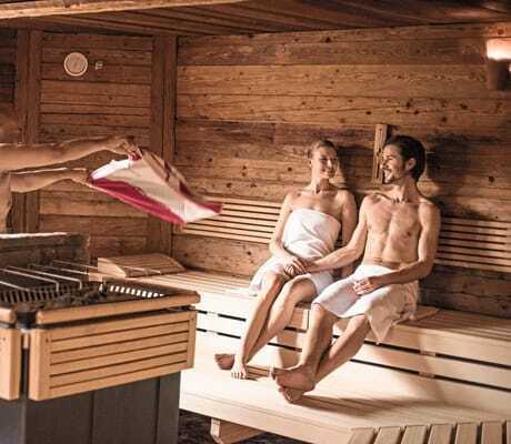 Saunaaufguss in Ebner's Waldhof