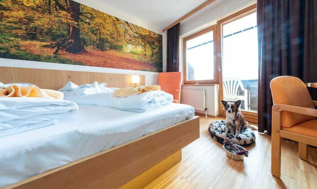 Zimmer mit Hund im Almfrieden Hotel