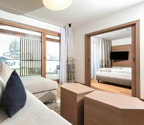 Blick in ein Zimmer_Hohe_Salve_Sportresort_Waschnig