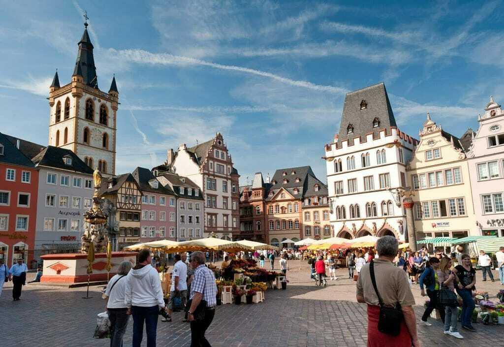 Blick auf den Hauptmarkt Trier