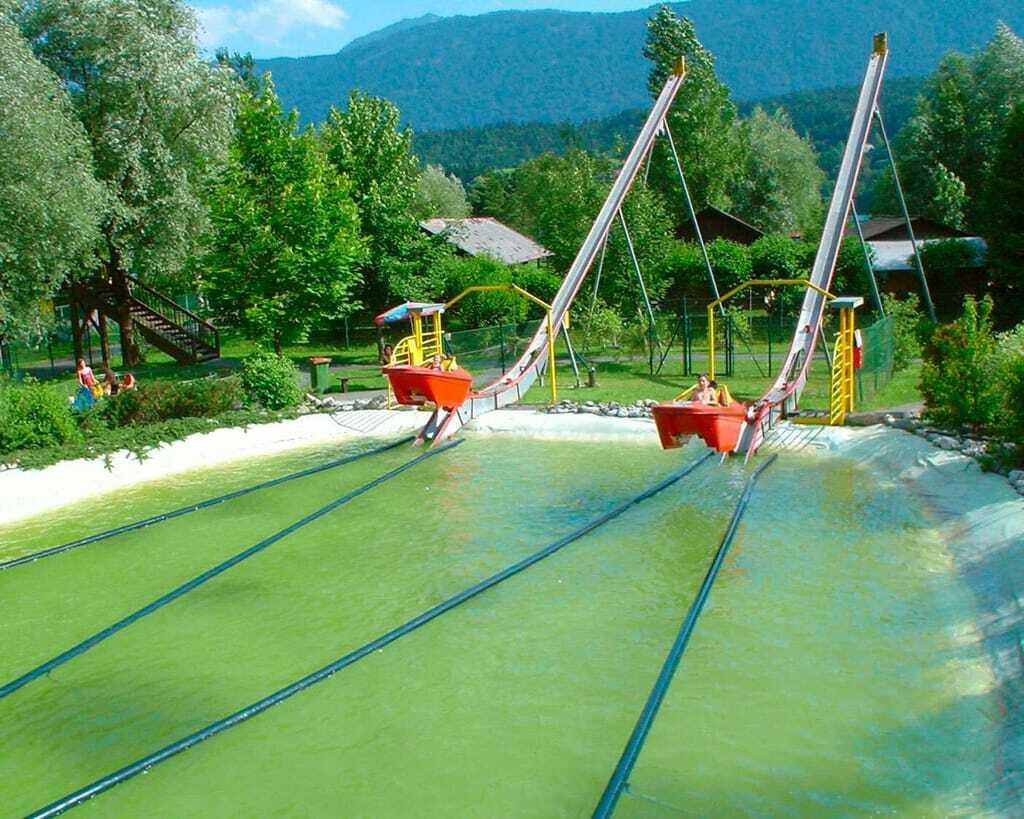Freizeitpark 1. Kärntner Erlebnispark Wasserrutsche Wasser NauticJet