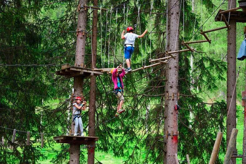 Freizeitpark Abenteuerpark Kaltern Hochseilgarten Klettergarten