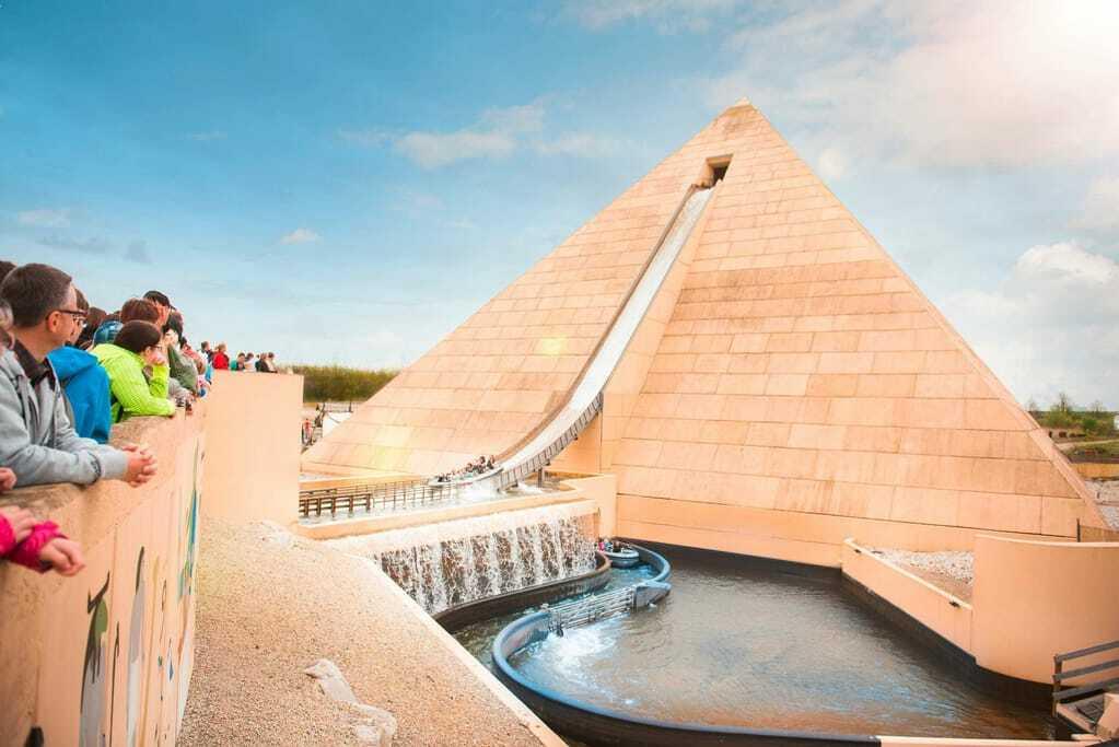 Freizeitpark Belantis Wasserachterbahn Pyramide