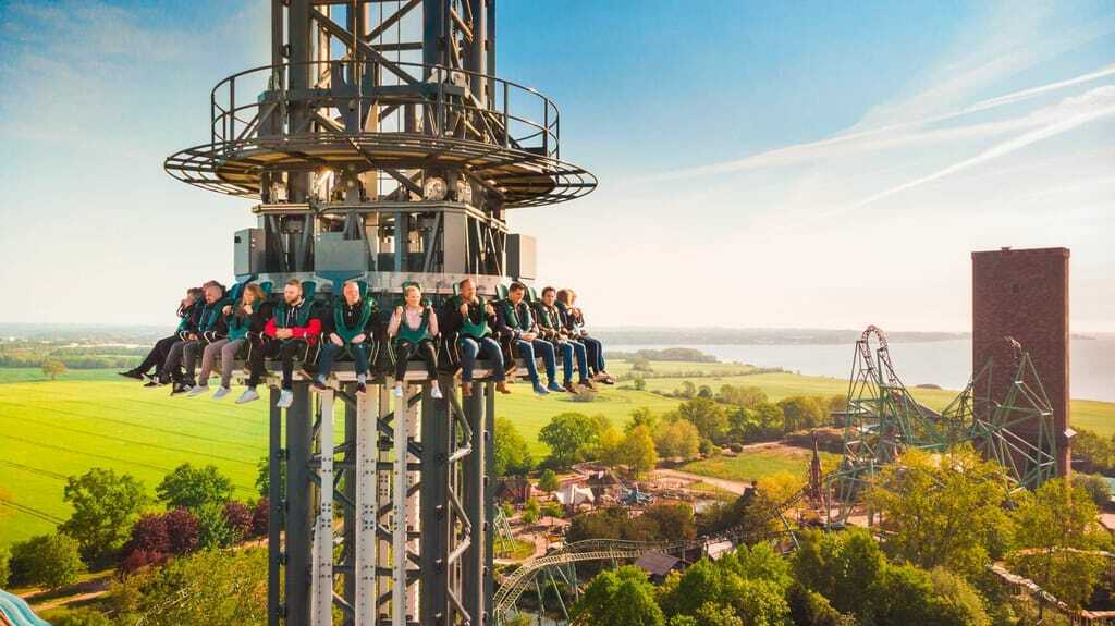 Freizeitpark Hansa-Park Highlander Freefall-Tower