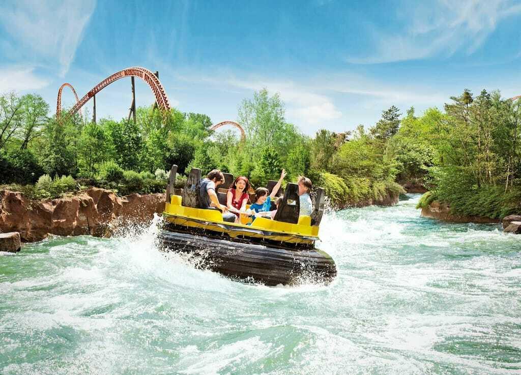 Freizeitpark Holiday Park Donnerfluss Wildwasserbahn