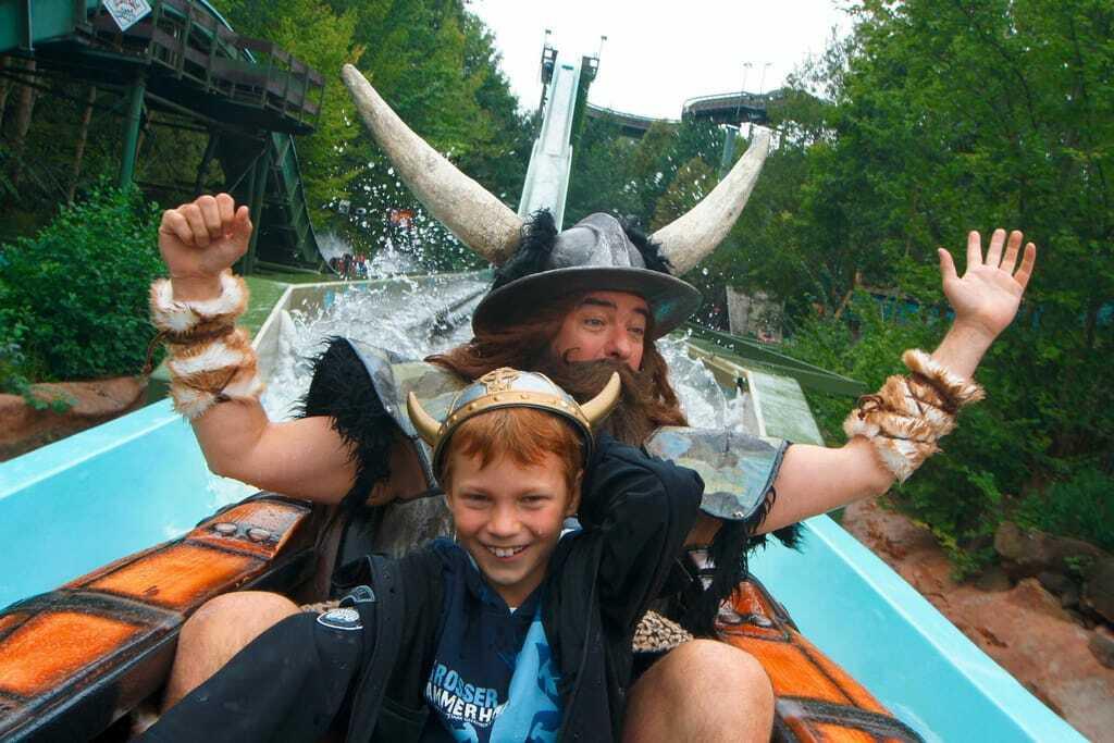 Freizeitpark Holiday Park Achterbahn Wasser Wickie