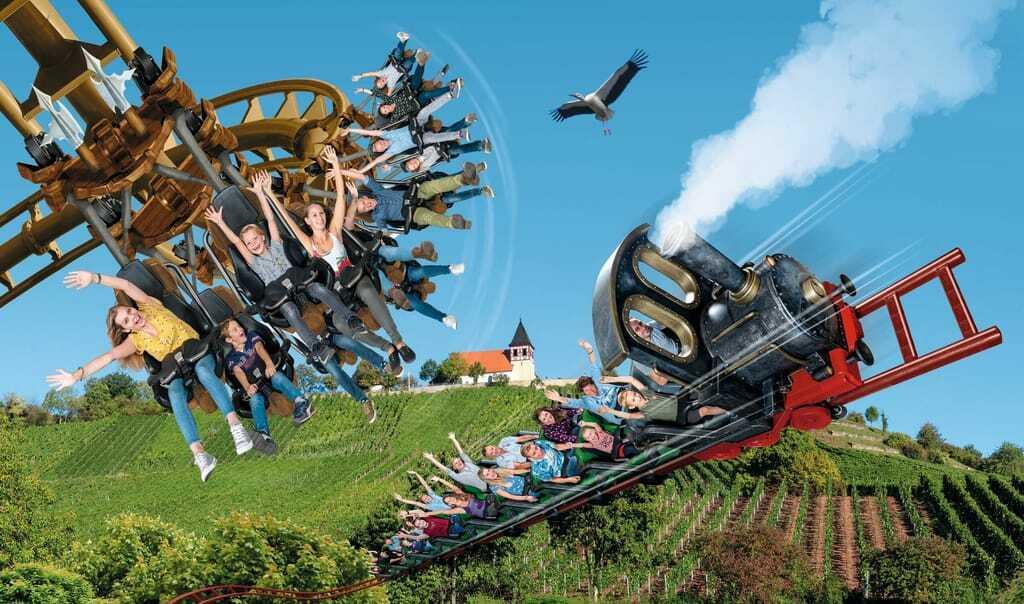 Freizeitpark Erlebnispark Tripsdrill Achterbahn