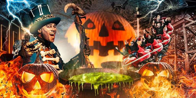 Reiseziele im Oktober Halloween Europa-Park Rust Achterbahn