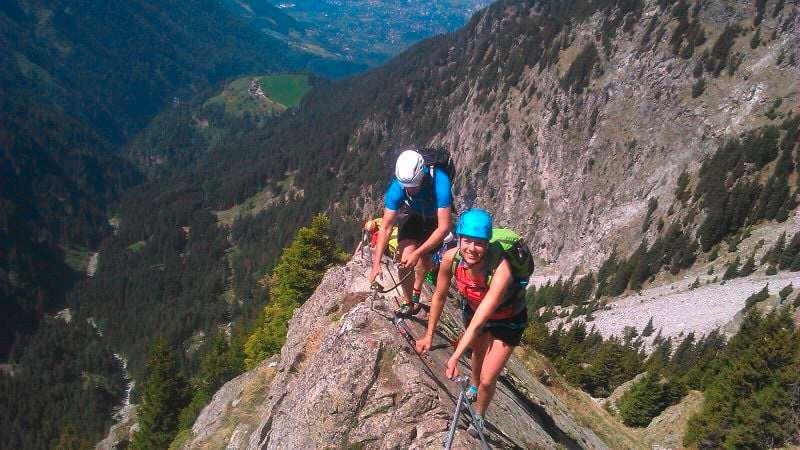 Reiseziele im Oktober Berge Klettersteig Klettern