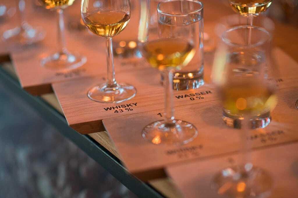 Reiseziele im Oktober Whiskyverkostung Whisky