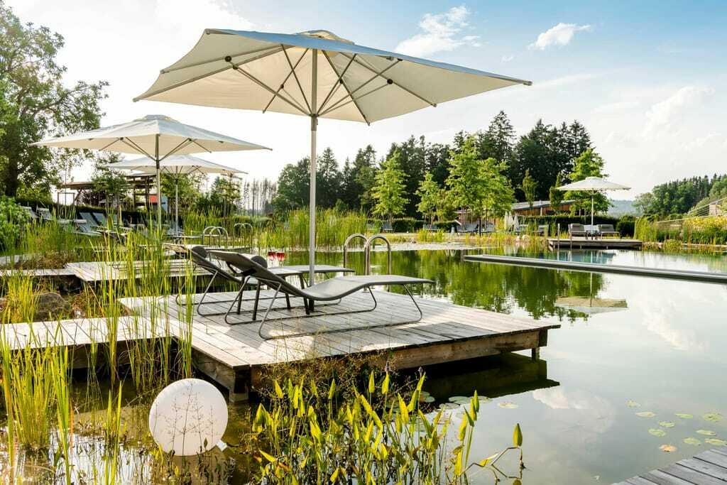 Wellnesshotels im Bayerischen Wald Poollandschaft im Hotel Das Stemp