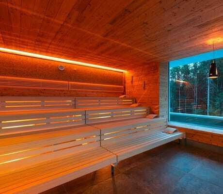 Sauna mit Blick nach draußen