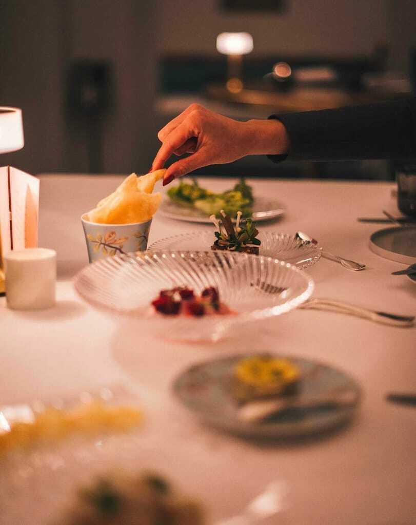 Gericht im Restaurant IGNIV by Andreas Caminada
