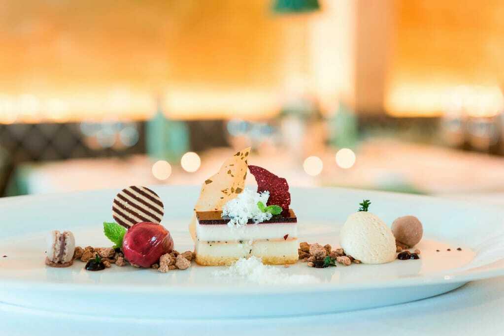 Hotels mit Sterneküche: Dessert im Sonnenalp Resort