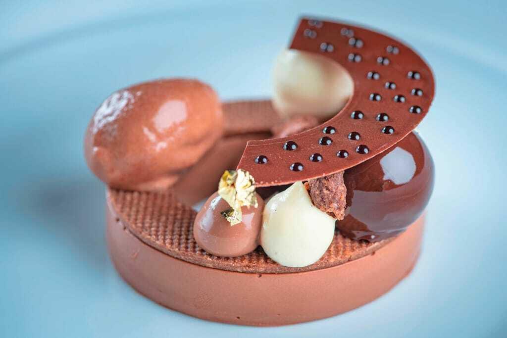 Hotels mit Sterneküche: Schokoladen-Dessert im Suvretta House