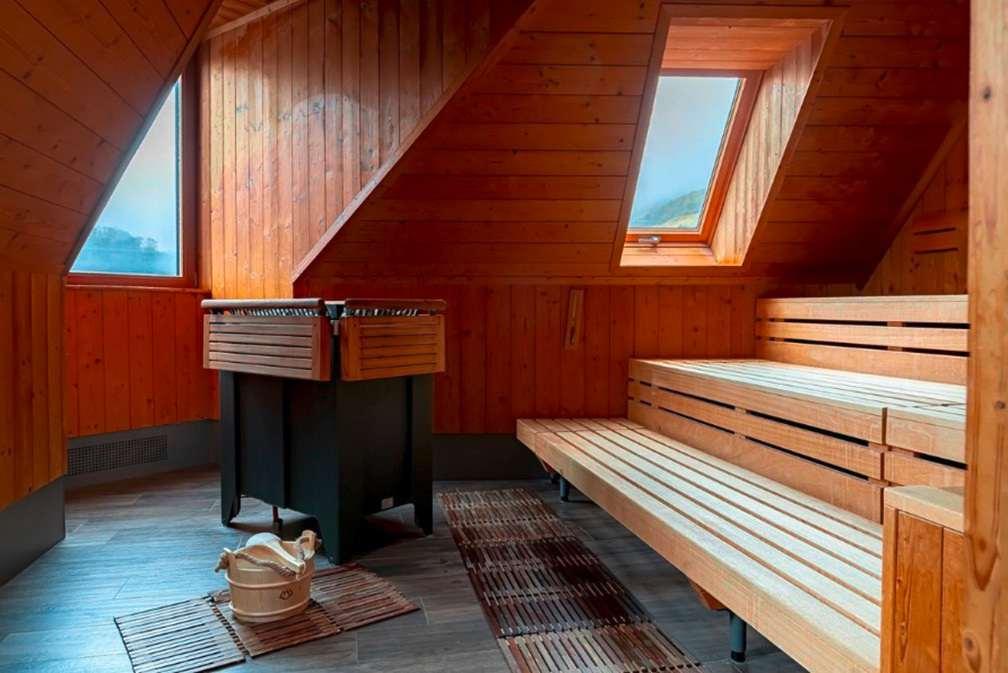 Penthouse-Sauna im Hotel Bellevue
