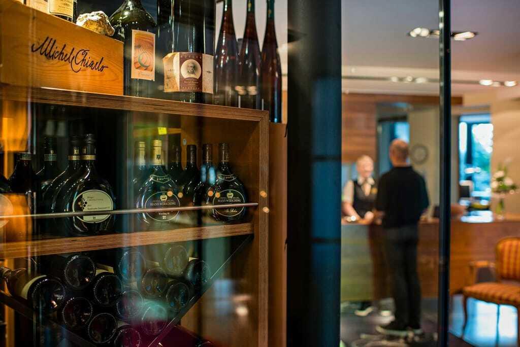 Getränkeauswahl im Weinhotel Zeller