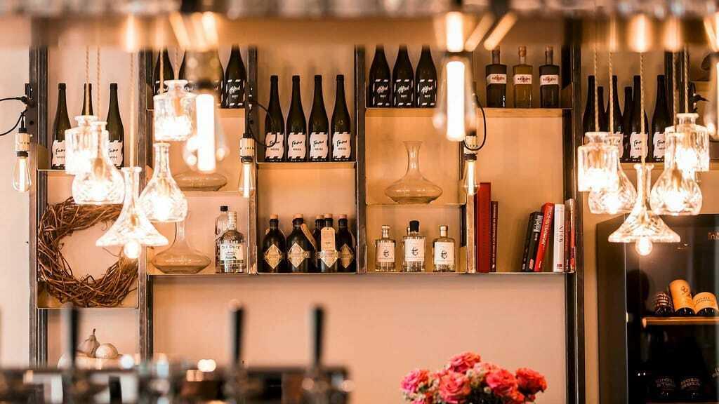 Weinauswahl im Hotel Zeller