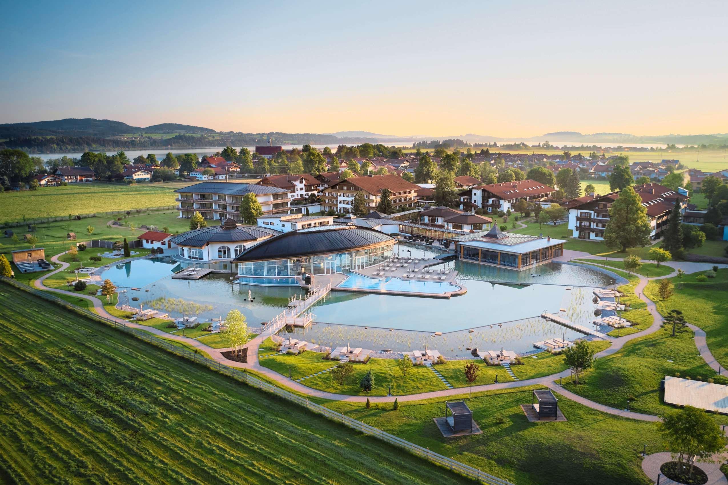 Das König Ludwig Wellness & Spa Resort im Allgäu.