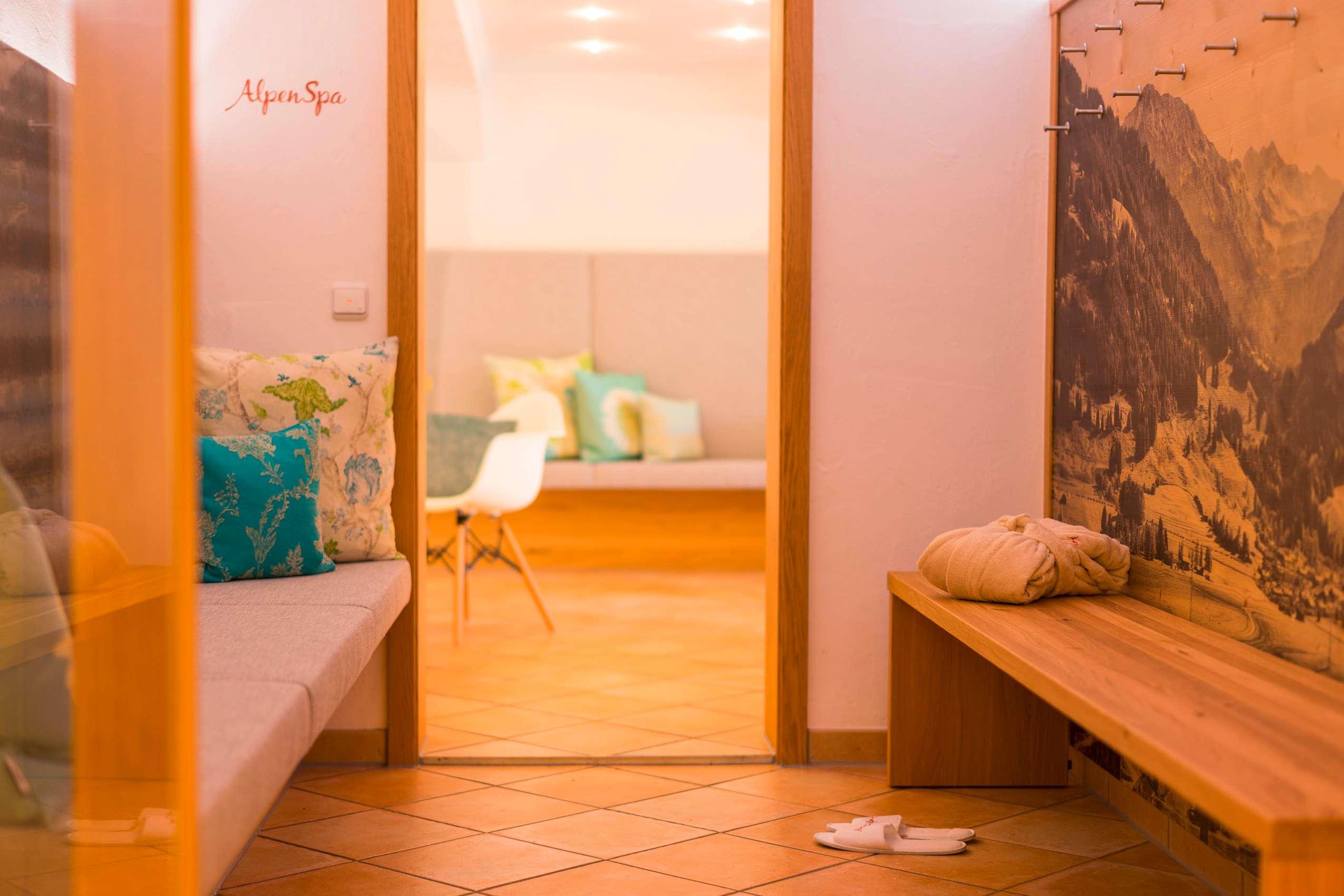 Blick in den Spa-Bereich des Wohlfühlhotels Berwanger Hof